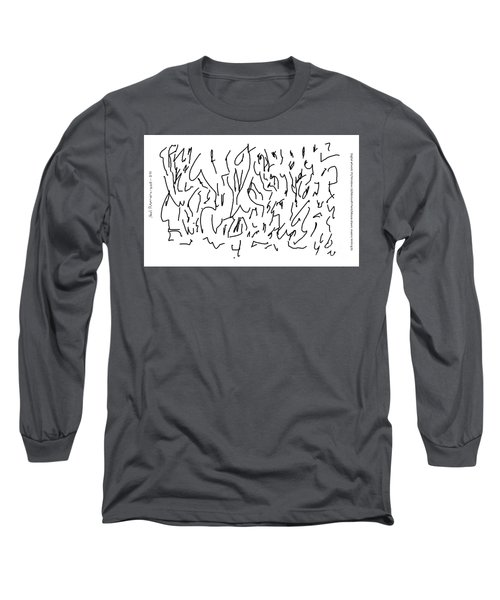 Asemic Writing 01 Long Sleeve T-Shirt