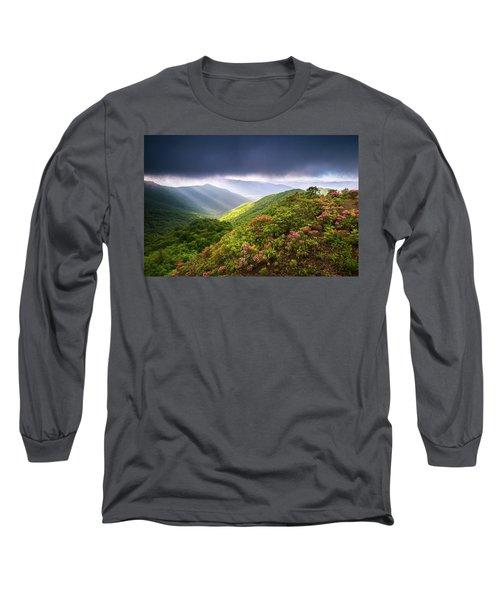 Asheville Nc Blue Ridge Parkway Spring Flowers North Carolina Long Sleeve T-Shirt