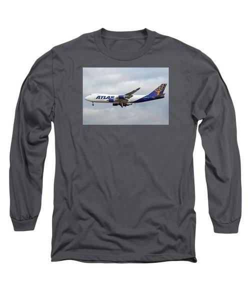 Atlas Air Boeing 747-47uf N415mc Phoenix Sky Harbor December 23 2015 Long Sleeve T-Shirt by Brian Lockett