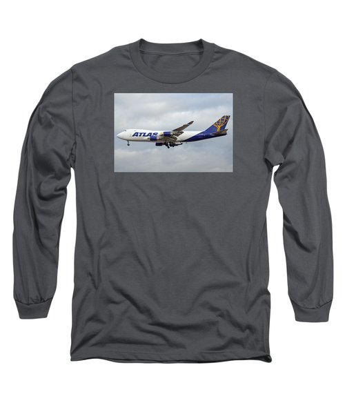 Atlas Air Boeing 747-47uf N415mc Phoenix Sky Harbor December 23 2015 Long Sleeve T-Shirt