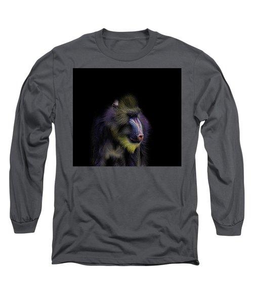 Baboon Portrait Long Sleeve T-Shirt