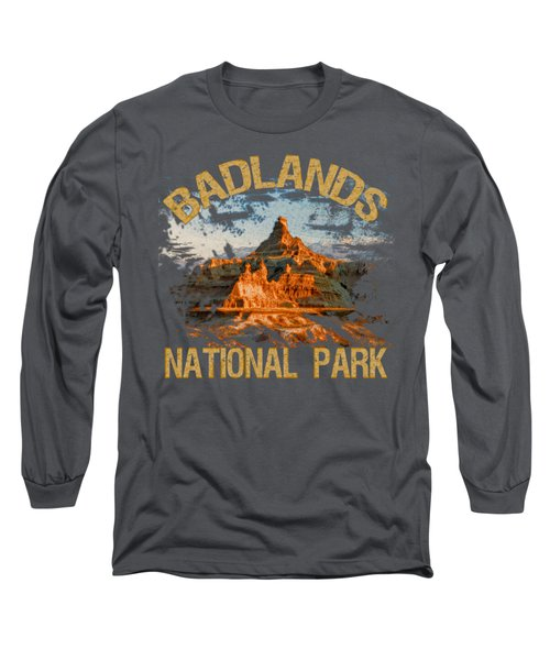 Badlands National Park Long Sleeve T-Shirt by David G Paul