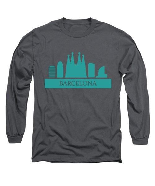 Barcelona Skyline Long Sleeve T-Shirt