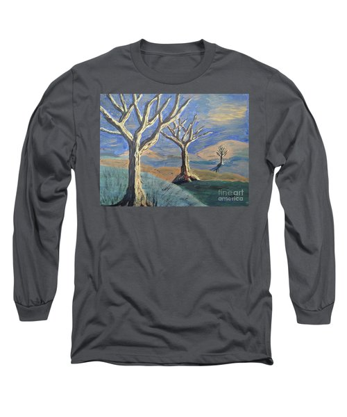 Bare Trees Long Sleeve T-Shirt by Judy Via-Wolff