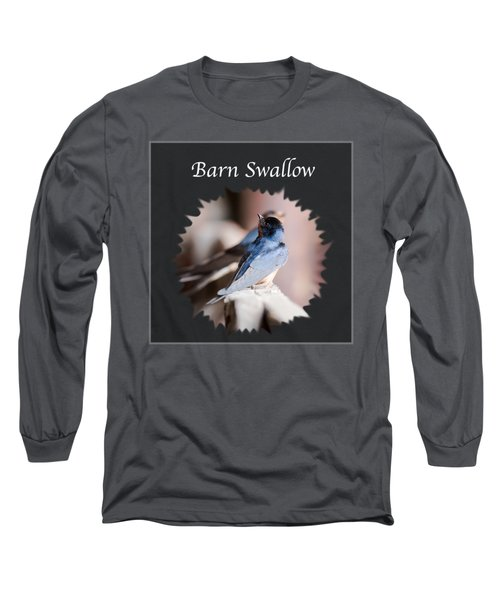 Barn Swallow Long Sleeve T-Shirt by Jan M Holden