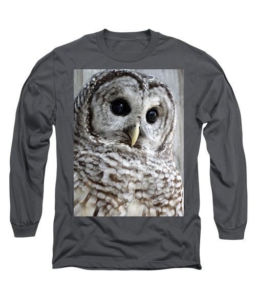 Long Sleeve T-Shirt featuring the photograph Barred Owl by Rebecca Overton