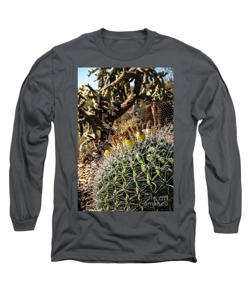 Long Sleeve T-Shirt featuring the photograph Barrel Cactus by Lawrence Burry