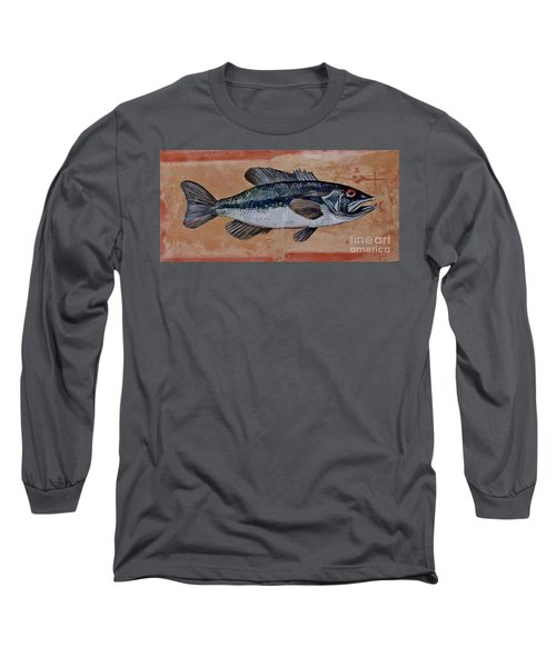 Long Sleeve T-Shirt featuring the painting Bass by Andrew Drozdowicz