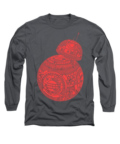 Bb8 Droid - Star Wars Art, Red Long Sleeve T-Shirt