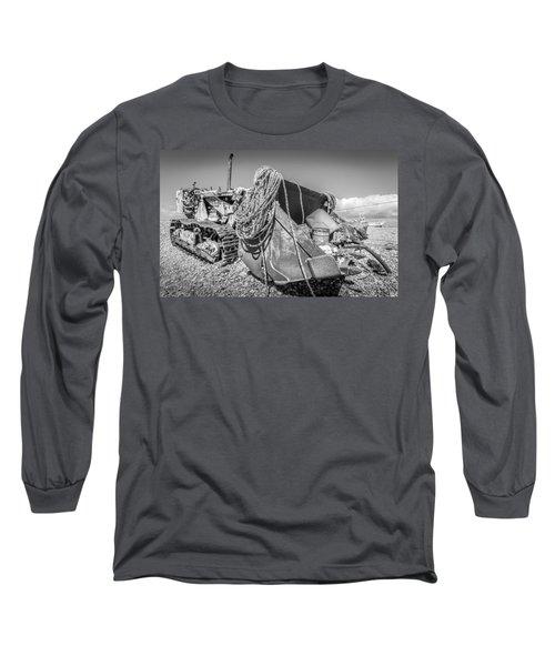 Beach Bulldozer. Long Sleeve T-Shirt