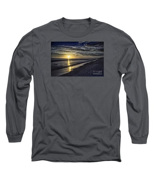 Beach Sunset 1021b Long Sleeve T-Shirt by Walt Foegelle