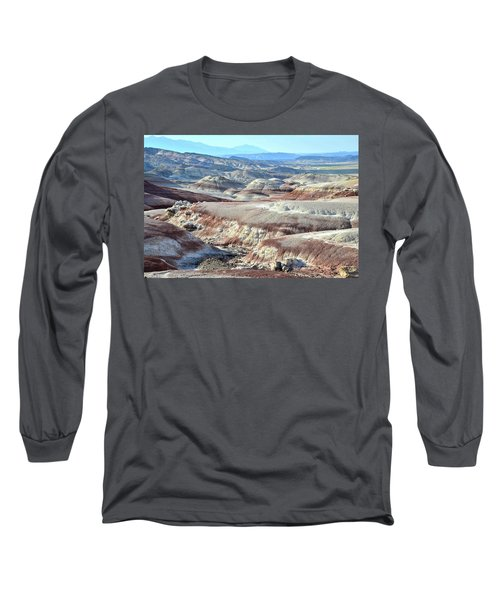 Bentonite Clay Dunes In Cathedral Valley Long Sleeve T-Shirt by Ray Mathis