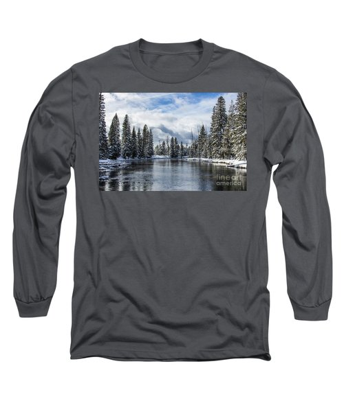 Big Springs In Winter Idaho Journey Landscape Photography By Kaylyn Franks Long Sleeve T-Shirt