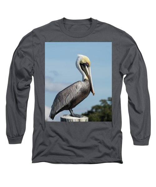 Biloxi Pelican Long Sleeve T-Shirt