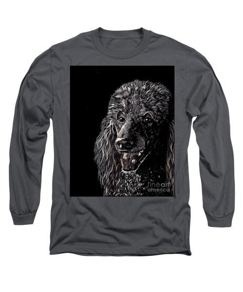 Black Standard Poodle Long Sleeve T-Shirt