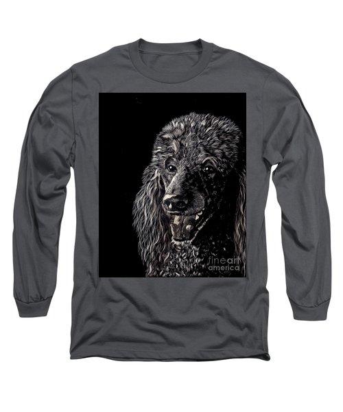 Black Standard Poodle Long Sleeve T-Shirt