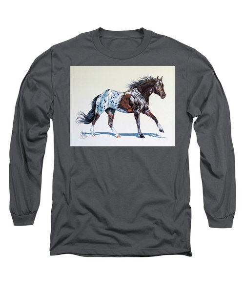 Blanketed Appaloosa Long Sleeve T-Shirt by Cheryl Poland