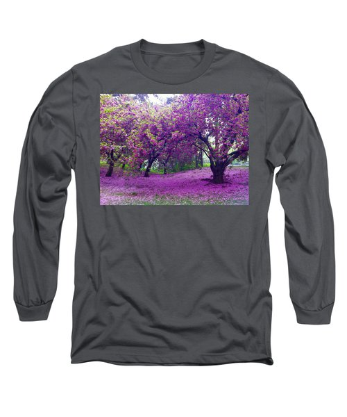 Blossoms In Central Park Long Sleeve T-Shirt