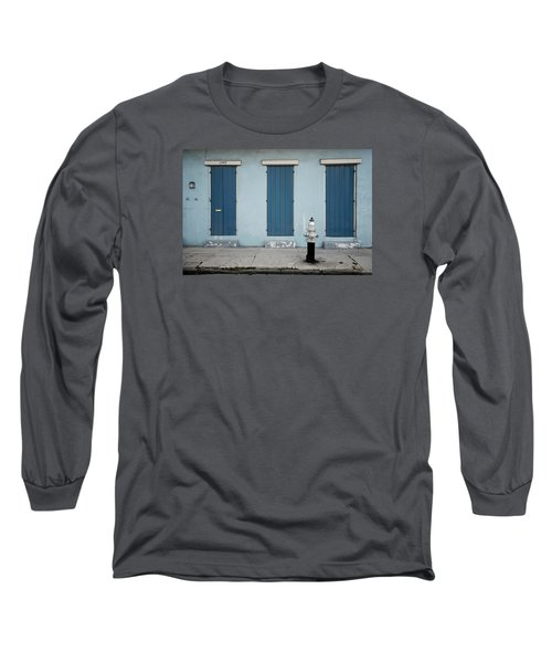 Blue And Silver At 1243 Long Sleeve T-Shirt