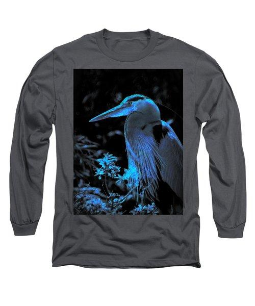 Long Sleeve T-Shirt featuring the photograph Blue Heron by Lori Seaman