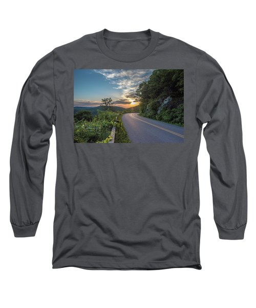 Blue Ridge Parkway Morning Sun Long Sleeve T-Shirt