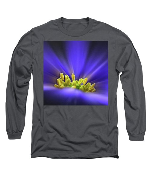 blue Shades - An Anemone Blanda Long Sleeve T-Shirt