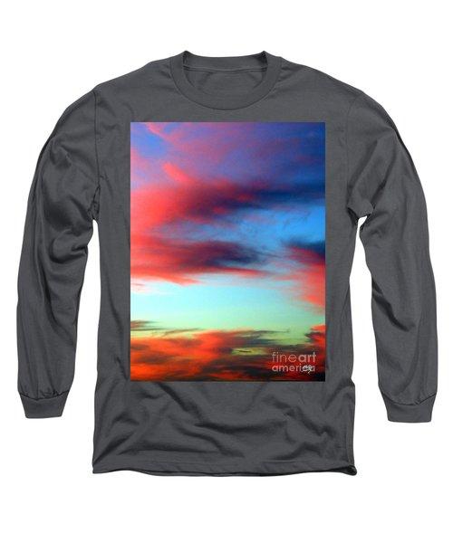 Blushed Sky Long Sleeve T-Shirt by Linda Hollis
