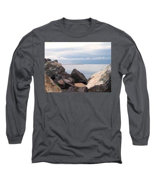 Break Wall On Lake Superior Long Sleeve T-Shirt