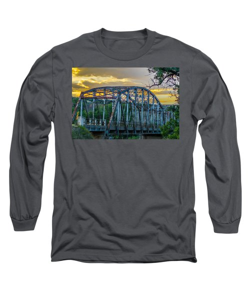 Long Sleeve T-Shirt featuring the photograph Bridge by Jerry Cahill