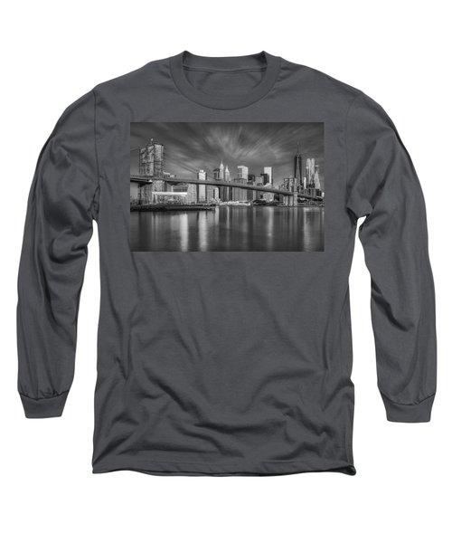 Brooklyn Bridge From Dumbo Long Sleeve T-Shirt