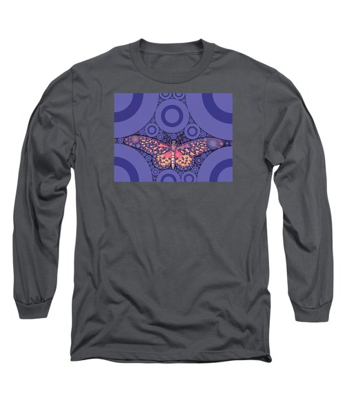 Bubble Art Butterfly Long Sleeve T-Shirt