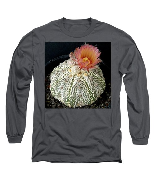 Cactus Flower 4 Long Sleeve T-Shirt by Selena Boron