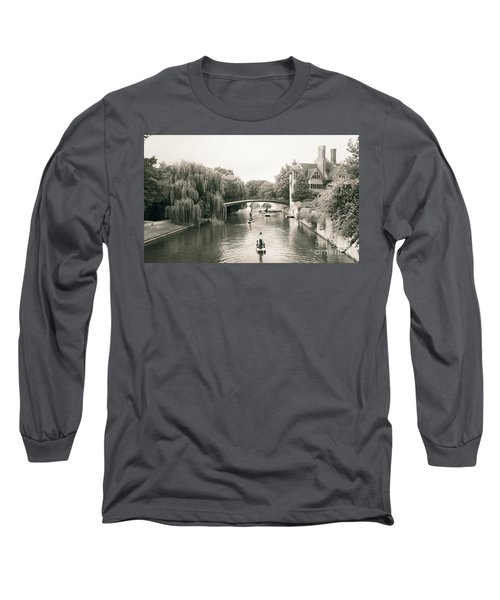 Cambridge River Punting Long Sleeve T-Shirt by Eden Baed