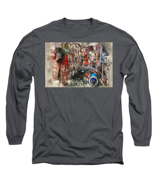 Canal In Venice Long Sleeve T-Shirt