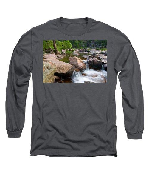 Long Sleeve T-Shirt featuring the photograph Castor River Shut-ins by Steve Stuller