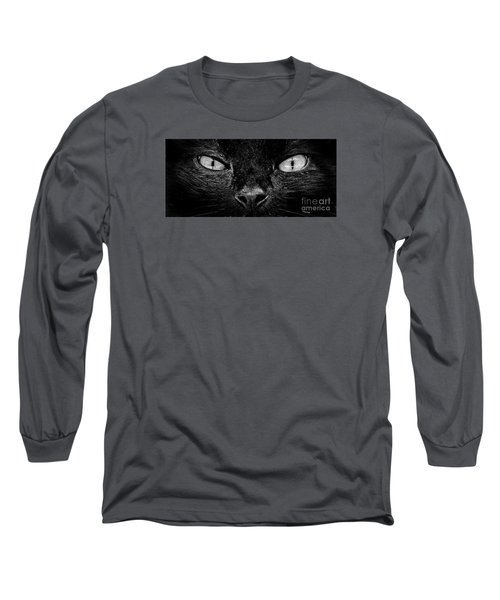 Long Sleeve T-Shirt featuring the photograph Cat's Eyes by Terri Mills
