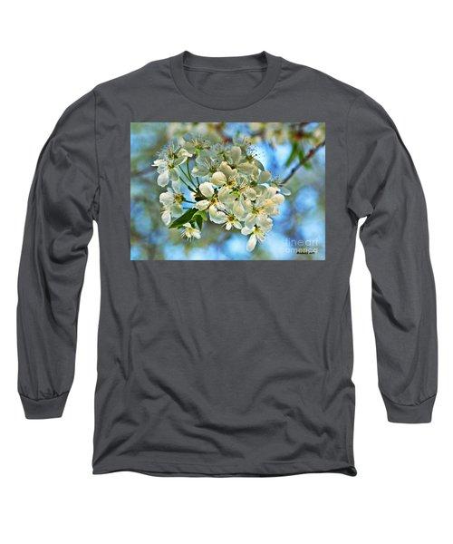 Cherry Tree Flowers Long Sleeve T-Shirt