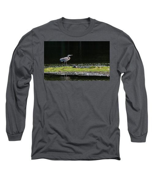 Chesapeake Bay Great Blue Heron Long Sleeve T-Shirt