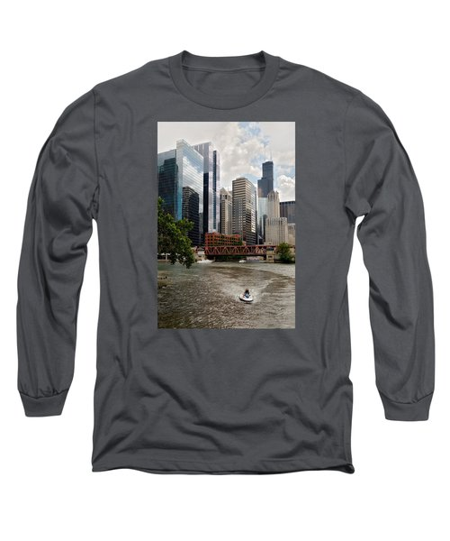 Chicago River Jet Ski Long Sleeve T-Shirt