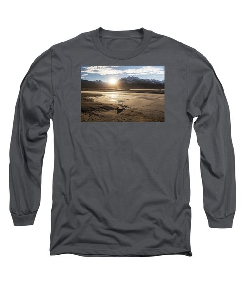 Chilkat River Sunset Long Sleeve T-Shirt by Michele Cornelius