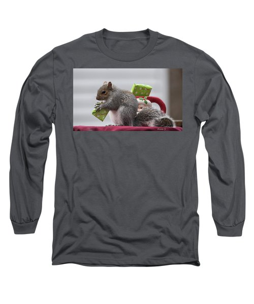 Christmas Squirrel Long Sleeve T-Shirt