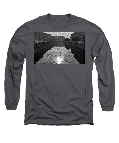 City Reflected In The Water Channels Long Sleeve T-Shirt