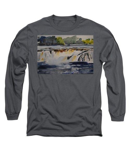 Cohoes Falls Study 2 Long Sleeve T-Shirt