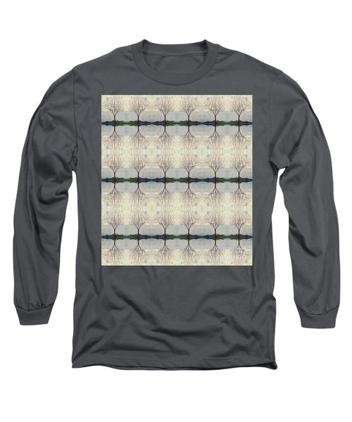 Colorado Cottonwood Tree Mirror Image  Long Sleeve T-Shirt