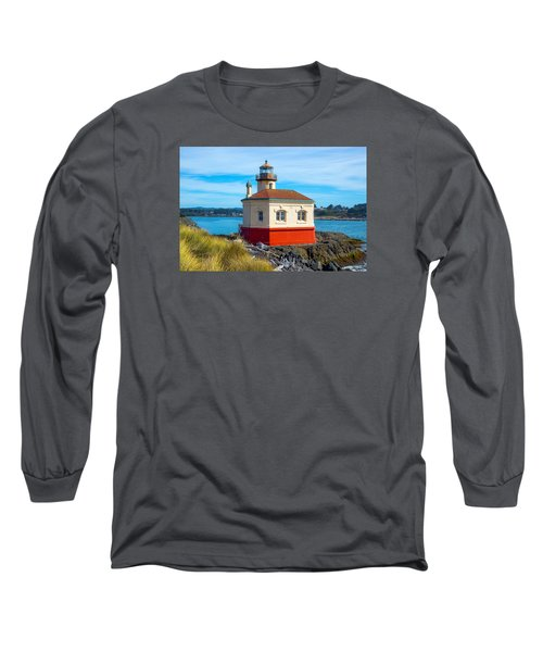 Long Sleeve T-Shirt featuring the tapestry - textile Coquille Lighthouse by Dennis Bucklin