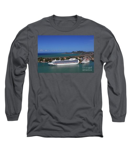 Long Sleeve T-Shirt featuring the photograph Cruise Port by Gary Wonning