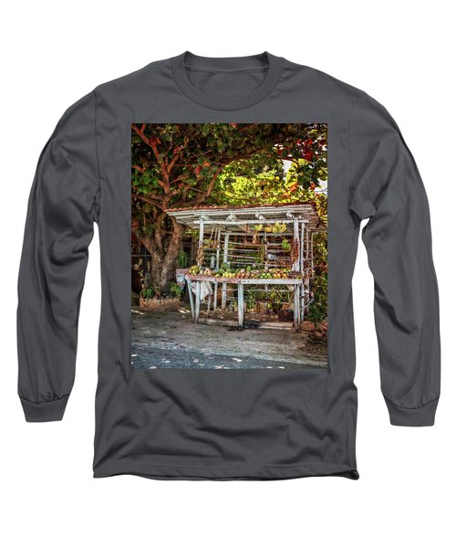 Long Sleeve T-Shirt featuring the photograph Cuban Fruit Stand by Joan Carroll