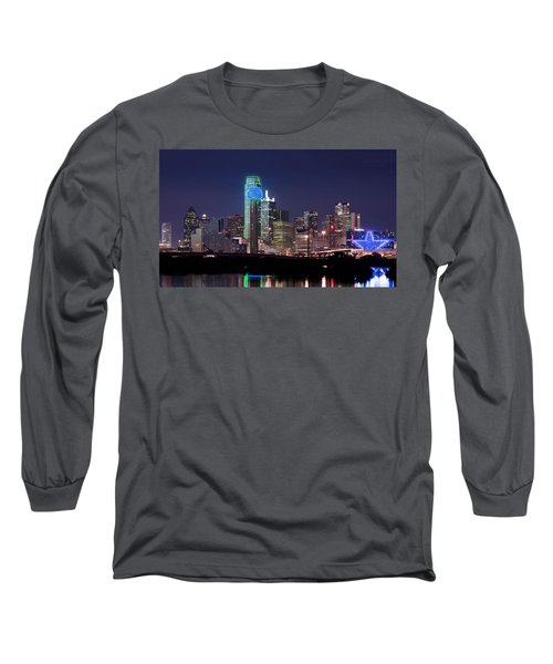 Dallas Skyline Cowboys Long Sleeve T-Shirt