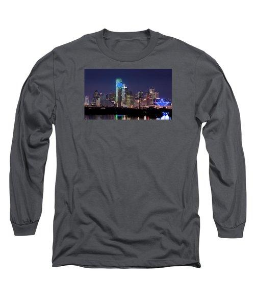 Dallas Skyline Cowboys Long Sleeve T-Shirt