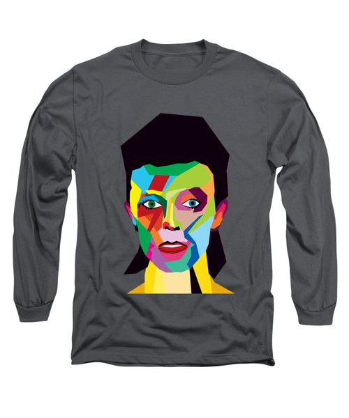 David Bowie Long Sleeve T-Shirt by Mark Ashkenazi